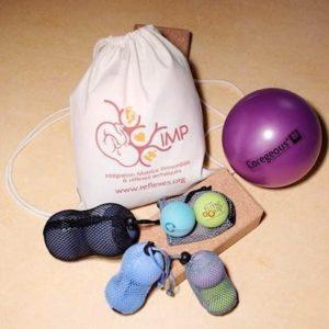 Kit de balles d'auto-massage + sac IMP en coton bio