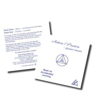 "CD ""Piano actif/passif"" de Brendan O'Hara"