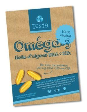 Capsules d'Oméga-3 végétalienne