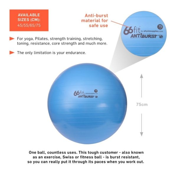 Ballon de gym de 75cm