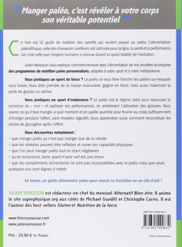 Livre Paléo Nutrition de Julien Venesson