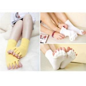 Chaussettes doigts de pieds en éventail