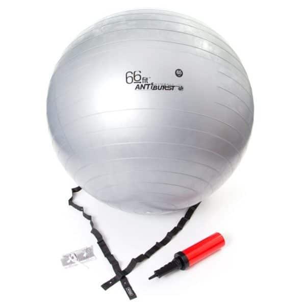 Ballon de gym de 65cm avec sa pompe