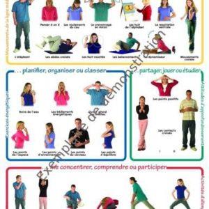 """Affiche """"26 activités de Brain Gym"""" - Photos d'ados"""