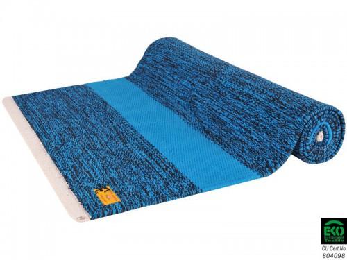 Tapis De Yoga Taj 100 Coton Bio 2 M X 66 Cm X 5mm Bleu Noir 1535911309