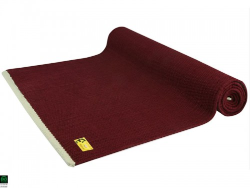 Tapis De Yoga Taj 100 Coton Bio 2 M X 66 Cm X 5mm Bordeaux 1535912282