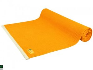 Tapis De Yoga Taj 100 Coton Bio 2 M X 66 Cm X 5mm Orange Safran 1535912318